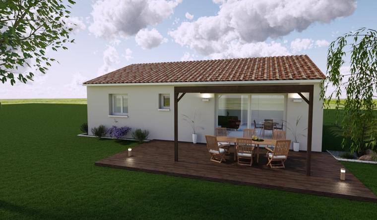 Maison 3 chambres avec suite - constructeur de maisons Bordeaux