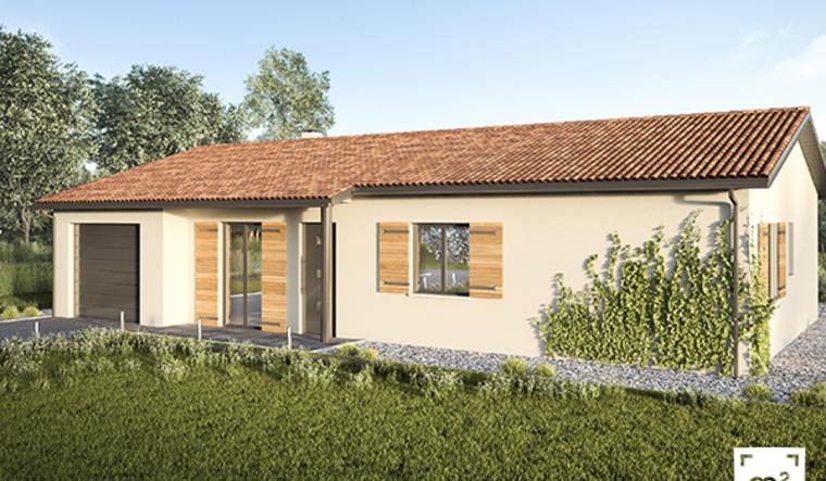 maison 2 chambres et garage à Leogeats - constructeur de maisons Bordeaux