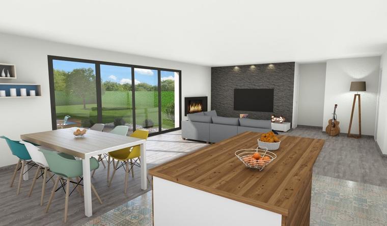 Belle maison contemporaine sur PESSAC  MAGONTY - constructeur de maisons Bordeaux