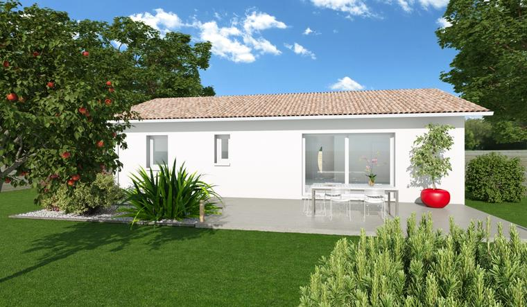 TERRAIN HORS LOTISSEMENT + MAISON 90 M2 - constructeur de maisons Parentis