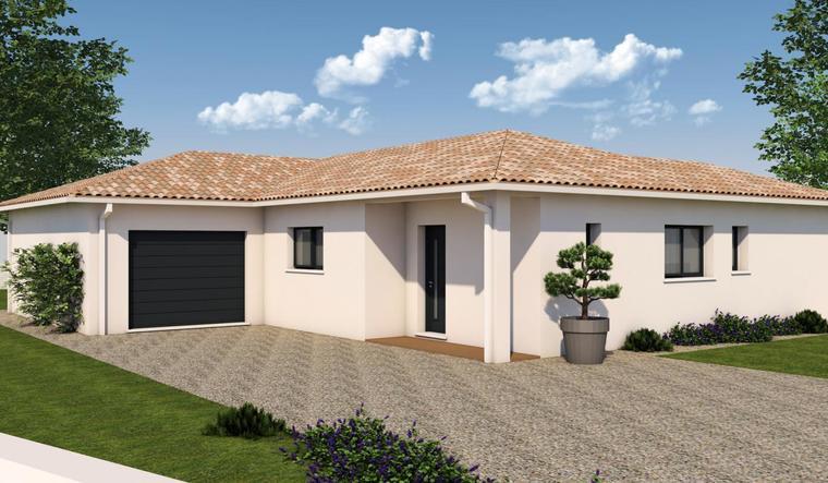 maison de plain pied avec suite parentale constructeur de maisons bordeaux. Black Bedroom Furniture Sets. Home Design Ideas