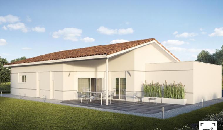 TERRAIN  lotissement + MAISON 110 M2 - constructeur de maisons Parentis