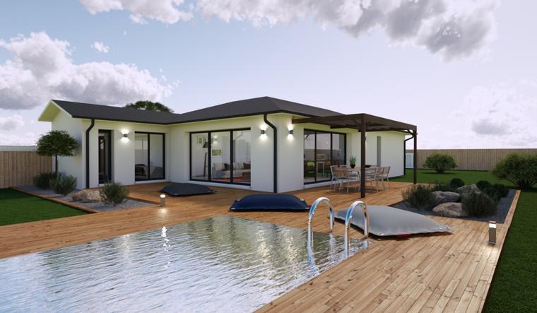 Maison 100m² - Terrain 665m² - constructeur de maisons Bordeaux