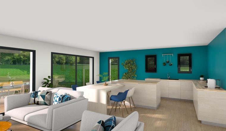 Maison 90m² - Terrain 600m² - constructeur de maisons Bordeaux