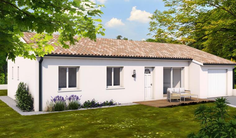 Plain pied 90m² avec garage - constructeur de maisons Toulouse