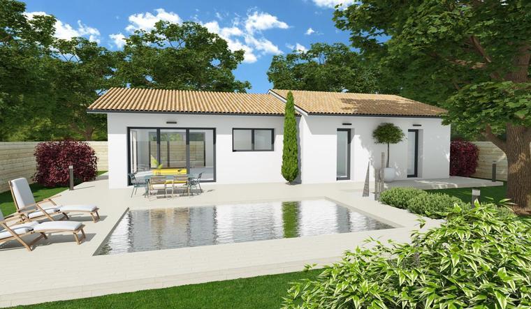 Maison 90m² + Terrain 570m² - constructeur de maisons Bordeaux