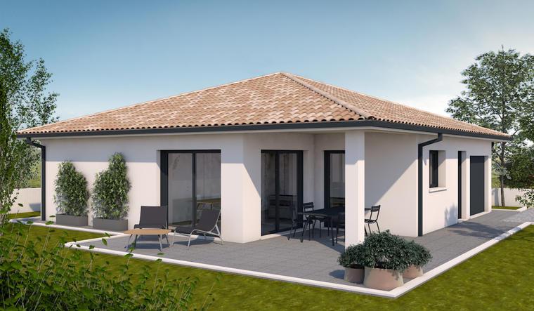 MAISON + TERRAIN 90 M2 - constructeur de maisons Parentis