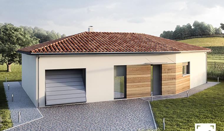 Maison moderne en L - constructeur de maisons Agen