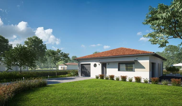 Maison contemporaine 3 chambres 90 m² - constructeur de maisons Agen