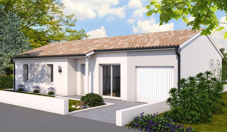 Pavillon contemporain 3ch 100m² Bon Encontre - constructeur de maisons Agen