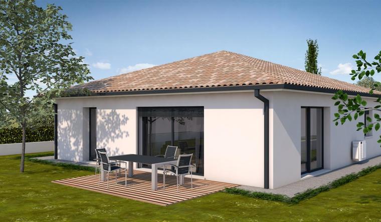 Belle maison neuve 90 m constructeur de maisons toulouse for Constructeur de maison neuve