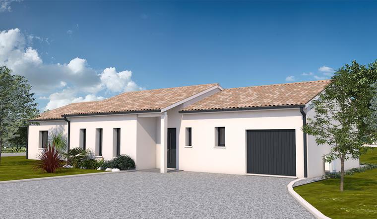 Maison T5 avec garage et terrasse - constructeur de maisons Toulouse
