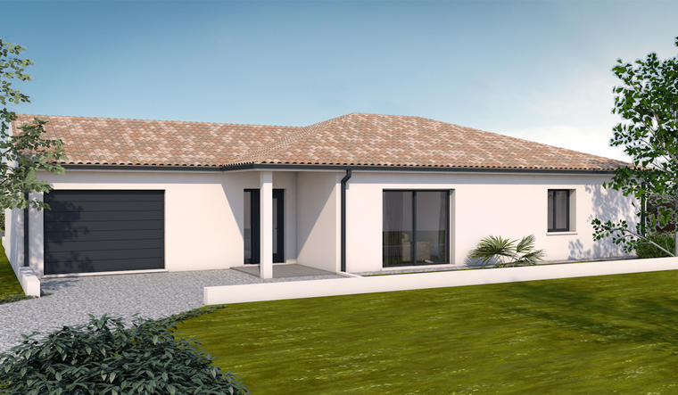 plain pied T3 avec garage - constructeur de maisons Toulouse