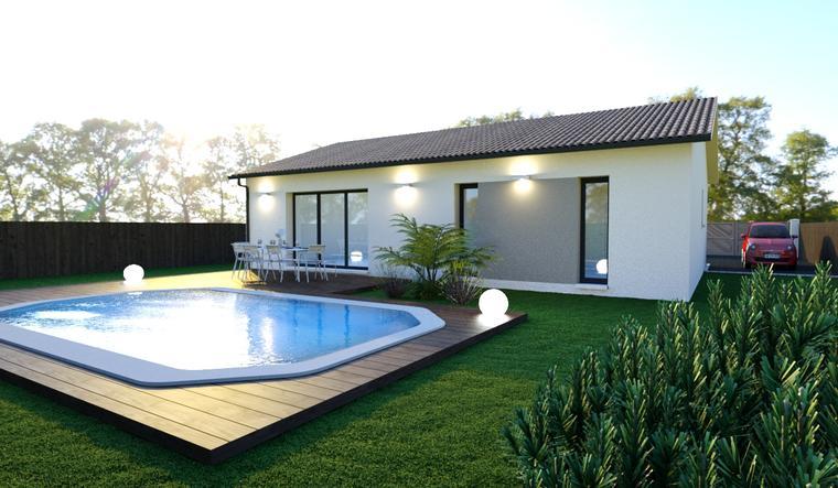 Terrain 600m2 + Maison 110m2 - constructeur de maisons Bordeaux