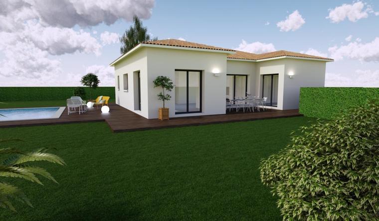 Maison neuve 100m2 - Terrain 746m2 - constructeur de maisons Bordeaux