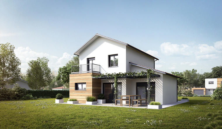 Maison neuve 100m² - Terrain 1460m² - constructeur de maisons Bordeaux