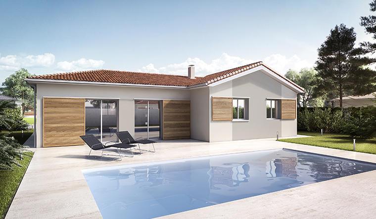 RARE POMPIGNAC - belle Maison de plain pied dans un cadre verdoyant. - constructeur de maisons Bordeaux