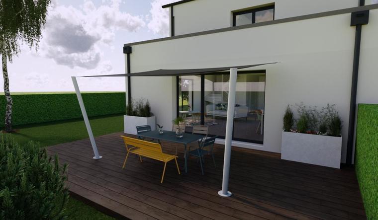 Maison neuve 100m² - Terrain 400m² - constructeur de maisons Bordeaux