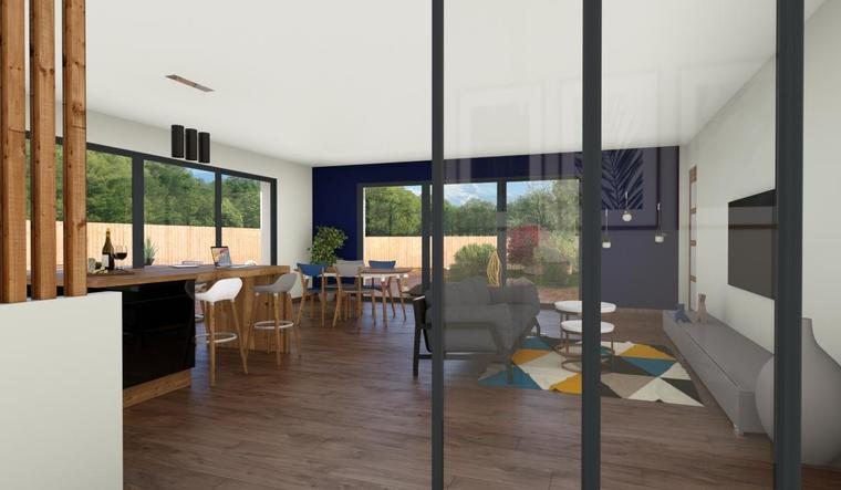 Maison Neuve plain-pied 90m² Belin-Beliet - constructeur de maisons Bordeaux