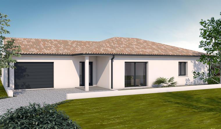 Maison neuve 110m² - Terrain 350m² - constructeur de maisons Bordeaux