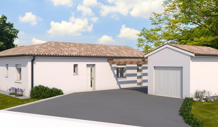 Maison T3 + garage indépendant - constructeur de maisons Toulouse