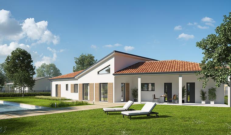 Maison neuve 180m² - Terrain 1496m² - constructeur de maisons Bordeaux