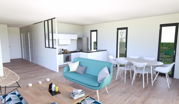 Maison neuve 90m² - Terrain 603m² - constructeur de maisons Bordeaux