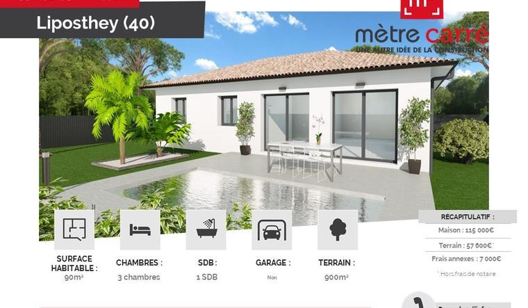 maison 2 chambres à Cavignac avec garage - constructeur de maisons Bordeaux