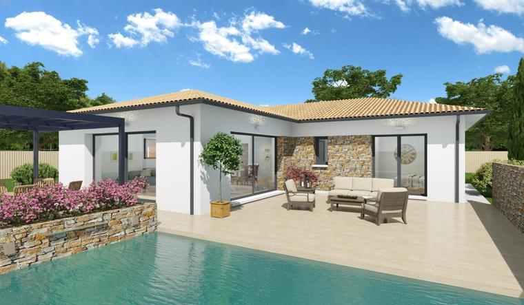 Maison plain pied t4 constructeur de maisons bordeaux for Constructeur maison bordeaux