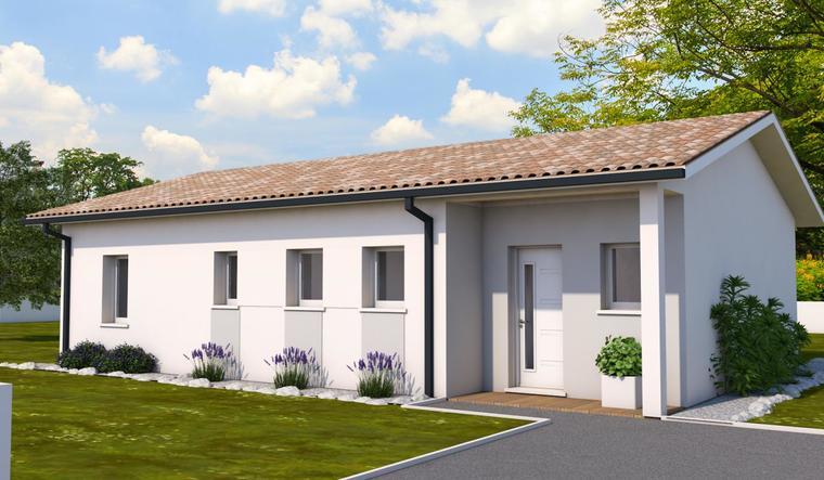 Maison neuve idéale pour jeune couple - Peujard - constructeur de maisons Bordeaux
