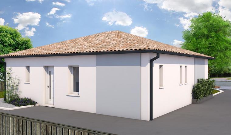 MAISON DE PLEIN PIED SUR BLANQUEFORT - constructeur de maisons Bordeaux