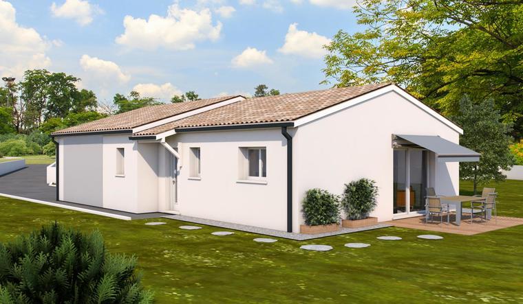 Pavillon neuf 3ch 100 m² - constructeur de maisons Agen