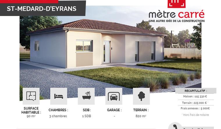 Projet Rare Bordeaux - Cauderan - constructeur de maisons Bordeaux
